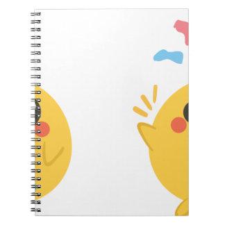 farm emojis - they chicken spiral notebook