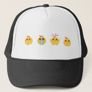 farm emojis - they chicken trucker hat