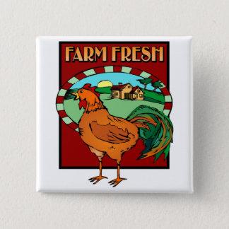 Farm Fresh 2 Inch Square Button