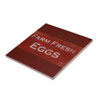 Farm Fresh Eggs Ceramic Tiles