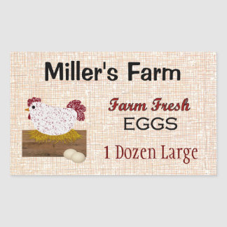 Farm Fresh Eggs Custom Sticker