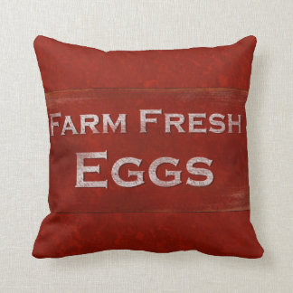 Farm Fresh Eggs Rustic Sign Pillow