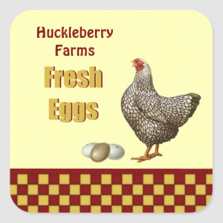 Farm Fresh Eggs Square Sticker