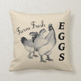 Farm Fresh Eggs Throw Pillow Farmhouse Style