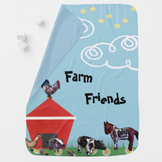 Farm Friends Baby Blanket