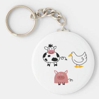 Farm Friends Key chain