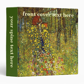 Farm Garden with Crucifix by Gustav Klimt 3 Ring Binder