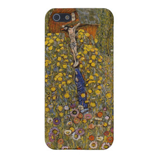 Farm Garden with Crucifix - Gustav Klimt iPhone 5/5S Case