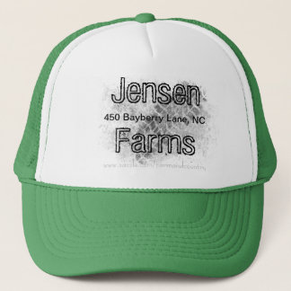 Farm hat, Family Farm, tire track, farm logo Trucker Hat