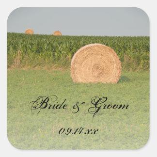 Farm Hay Bales Country Wedding Envelope Seals