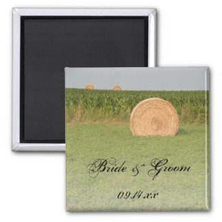 Farm Hay Bales Country Wedding Magnet