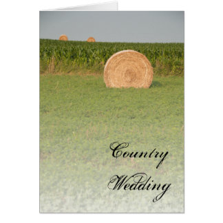 Farm Hay Bales Country Wedding Save the Date Card