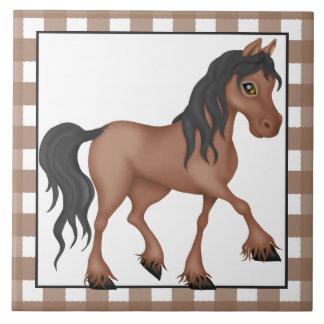 Farm Horse cartoon country tile