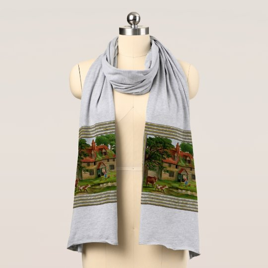 Farm House And Country Garden Scarf