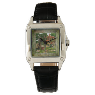 Farm House And Country Garden Watch