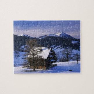 Farm house and Mount Rigi and Pilatus, Puzzles