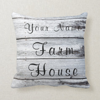 Farm House Barn Wood Pillow