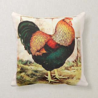 Farm House Decorative Red Rooster Pillow