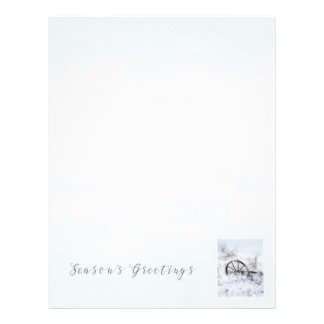 Farm Implement Season's Greetings Letter Paper Letterhead