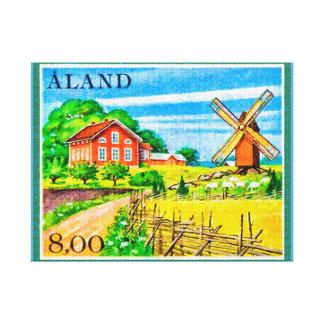 Farm in Aland Island Canvas Print