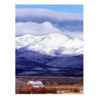 Farm in the Owyhee Mountains Idaho Postcard