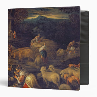 Farm Interior or Shearing Sheep Vinyl Binder