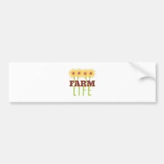 Farm Life Bumper Sticker