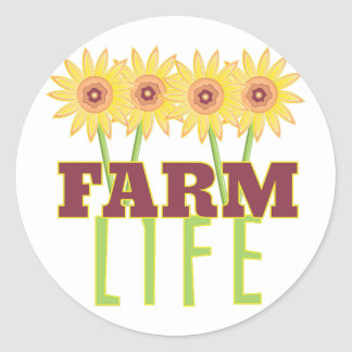 Farm Life Round Sticker