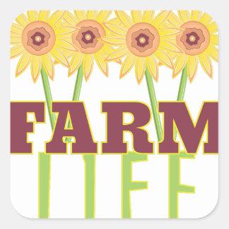 Farm Life Square Sticker