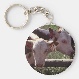Farm Livestock Basic Round Button Keychain