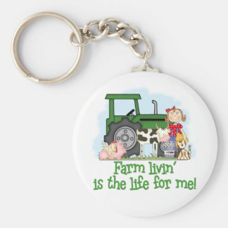 Farm Livin' (Girl) Keychain