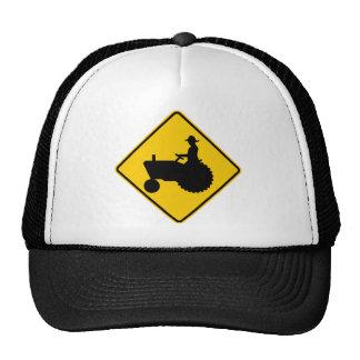 Farm Machinery Traffic Highway Sign Trucker Hat