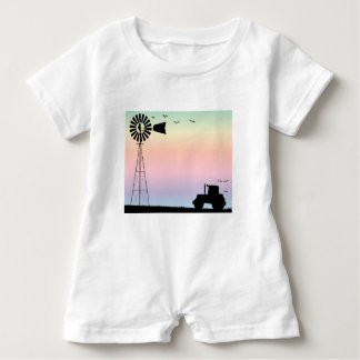 Farm Morning Sky Baby Romper