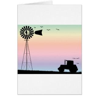 Farm Morning Sky Card