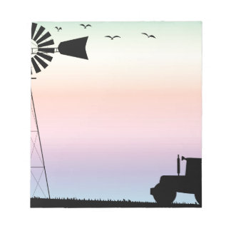 Farm Morning Sky Notepad