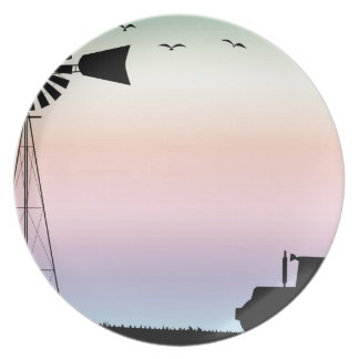 Farm Morning Sky Party Plate