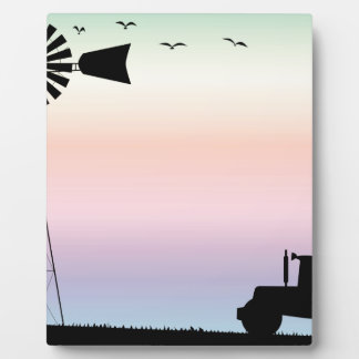 Farm Morning Sky Plaque