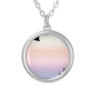 Farm Morning Sky Silver Plated Necklace