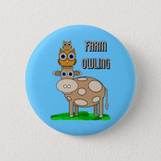 farm owling 2 inch round button