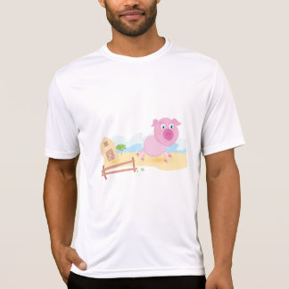 Farm Pig Mens Active Tee
