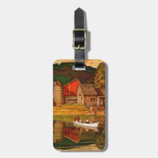 Farm Pond Landscape by Mead Schaeffer Luggage Tag