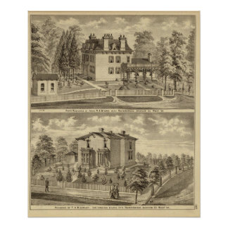 Farm residence of Judge RS Brown Poster