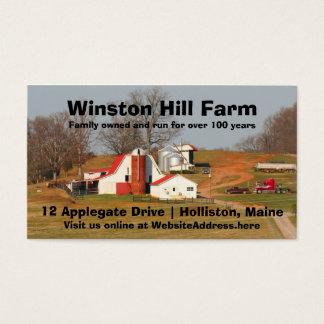 Farm Scene Photo Template Agriculture Business Business Card