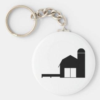 Farm Silhouette Key Chains