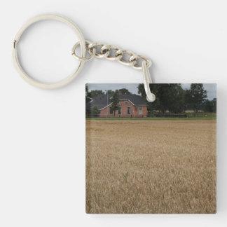 Farm Single-Sided Square Acrylic Keychain