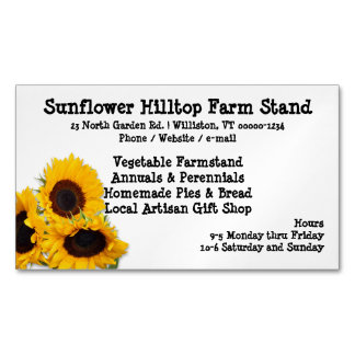 Farm Stand Sunflowers Business Cards