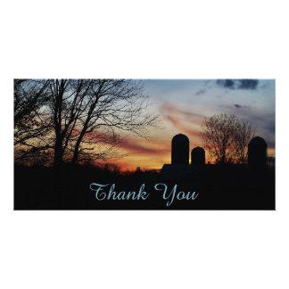 Farm Sunset Card