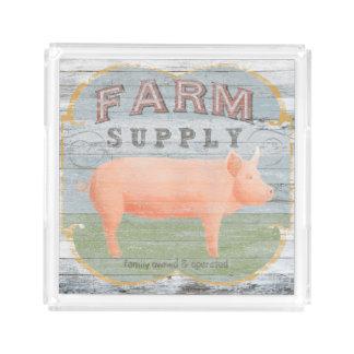 Farm Supply Acrylic Tray