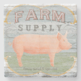 Farm Supply Stone Beverage Coaster