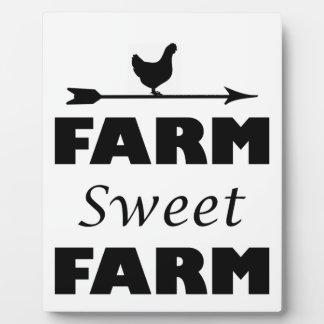 farm sweet farm plaque